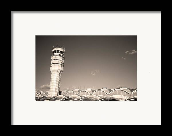 Airport Framed Print featuring the photograph The Control Tower And by Stephen Alvarez