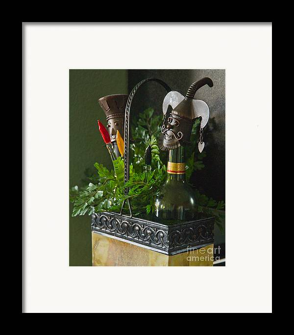 Bottle Framed Print featuring the photograph The Cork Jester by Michael Flood