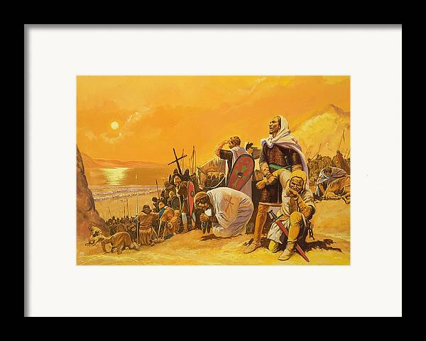 Orange Framed Print featuring the painting The Crusades by Gerry Embleton