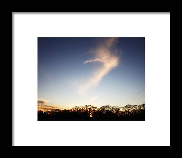 Clouds Framed Print featuring the photograph The Dancing Cloud by Lorri Crossno