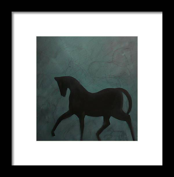 Horse Framed Print featuring the painting The Dancing Mare by Maureen Rocksmoore
