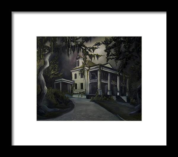 Ruins Framed Print featuring the painting The Dark Plantation by James Christopher Hill