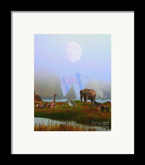 Wingsdomain Framed Print featuring the photograph The Day After Armageddon At The San Francisco Zoo by Wingsdomain Art and Photography
