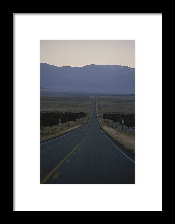North America Framed Print featuring the photograph The Desolate Highway 50 by George F. Mobley