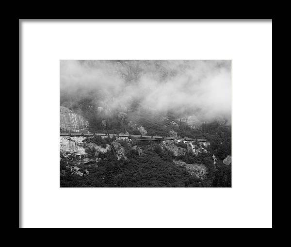 Alaska Framed Print featuring the photograph The Distant Train by Judy Wanamaker