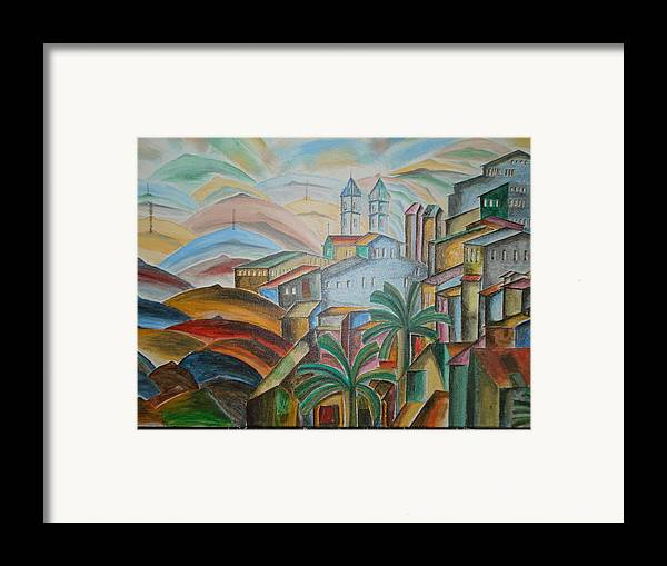 The Trees Framed Print featuring the mixed media The Dream City by Prasenjit Dhar