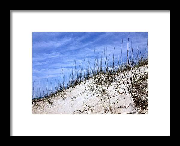 Dune Framed Print featuring the photograph The Dune's Of Atlantic Beach Nc by Joan Meyland