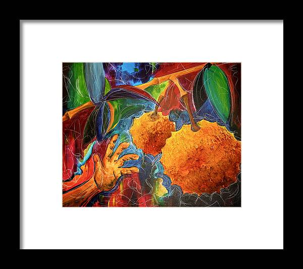 Durian Framed Print featuring the painting The Durian by Kate Fortin