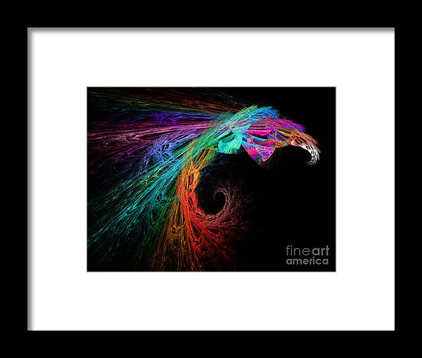 Andee Design Abstract Framed Print featuring the digital art The Eagle Rainbow by Andee Design