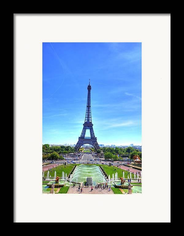 Helsinki Finland Framed Print featuring the digital art The Eiffel Tower by Barry R Jones Jr