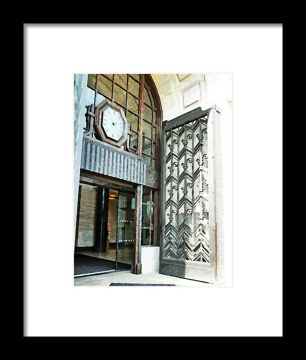 London Framed Print featuring the photograph The Entranceway To Unilever House by Steve Taylor