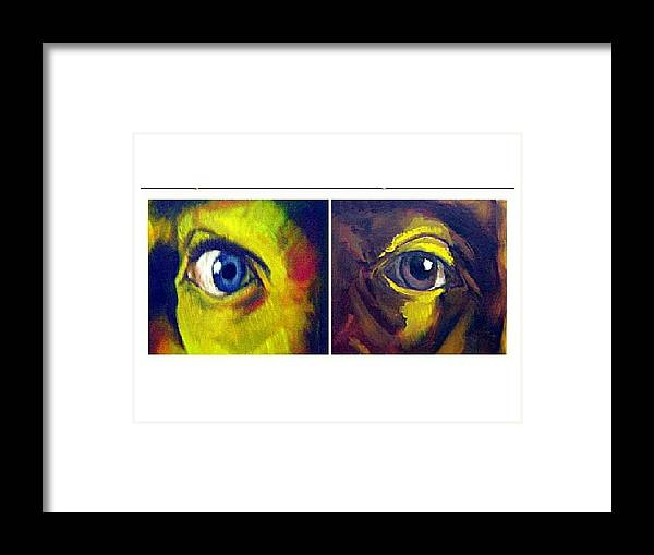 Eyes Framed Print featuring the photograph The Eyes Have It by Angelina Belden