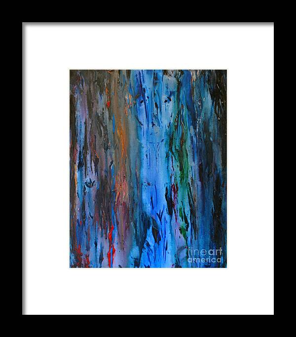 Abstract Framed Print featuring the painting The Face - Gravity Series by Douglas Shoop