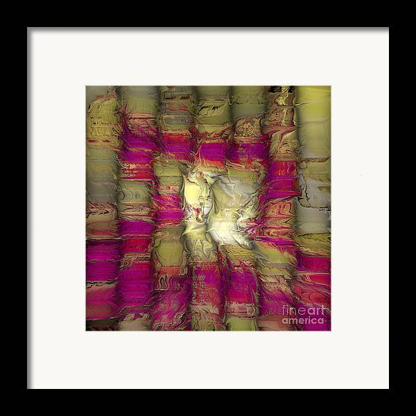 Abstract Framed Print featuring the digital art The Face Within by Deborah Benoit