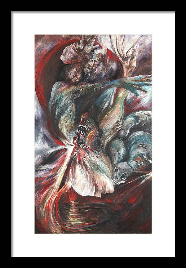 Suicide Framed Print featuring the painting The Falling Figure by Francine Mabie
