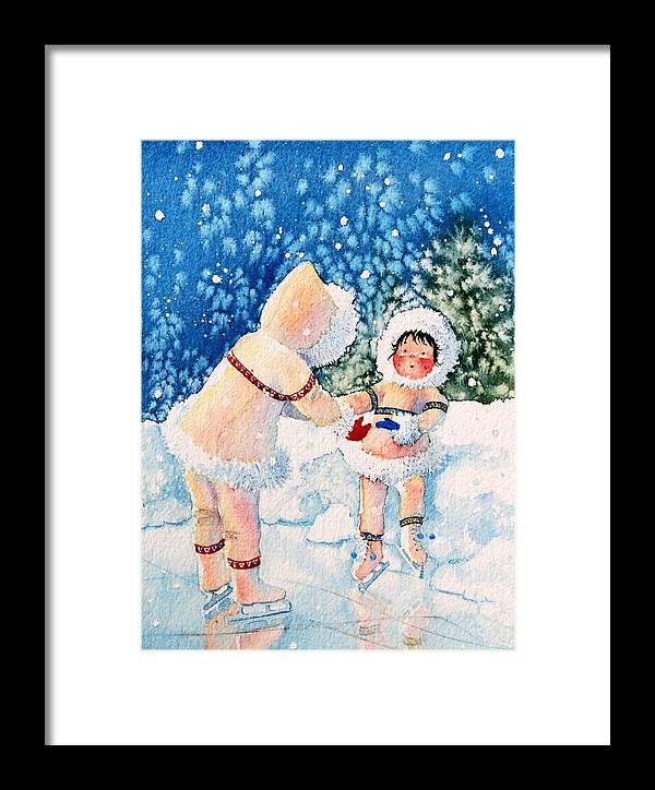 Childrens Book Illustrator Framed Print featuring the painting The Figure Skater 2 by Hanne Lore Koehler