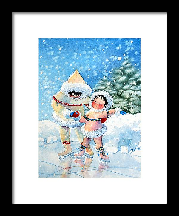 Childrens Book Illustrator Framed Print featuring the painting The Figure Skater 3 by Hanne Lore Koehler