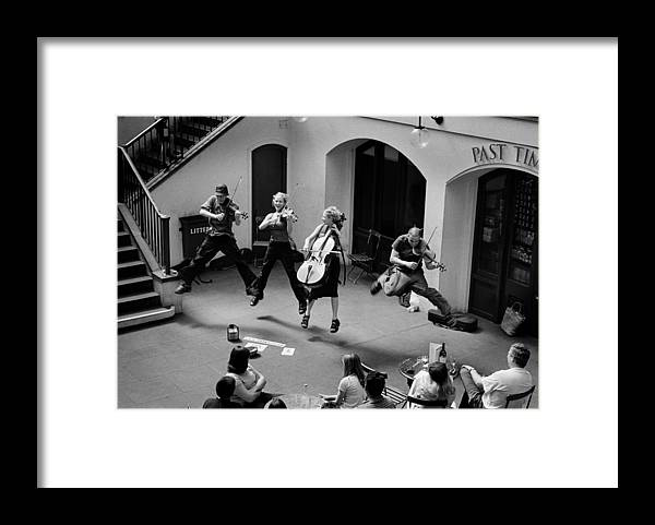 Music Covent Garden Framed Print featuring the photograph The Flying Quartet Covent Garden by Aldo Cervato