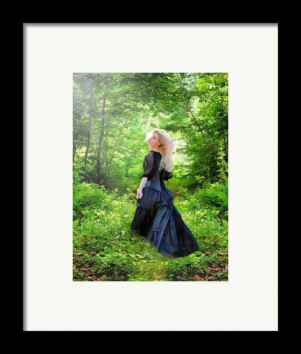 Goth Framed Print featuring the digital art The Forest Beckons by Nikki Marie Smith