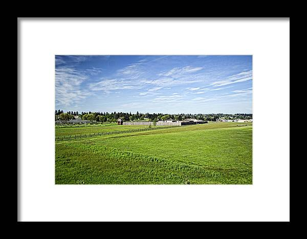 Landscape Framed Print featuring the photograph The Fort by Ryan C Johnson