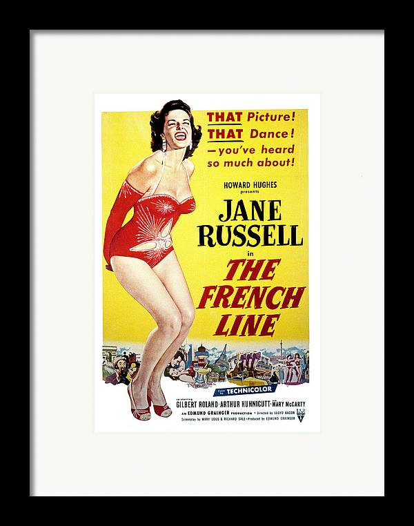 1950s Movies Framed Print featuring the photograph The French Line, Jane Russell, 1954 by Everett
