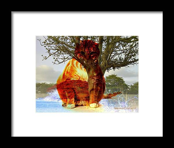 Fania Simon Framed Print featuring the mixed media The Genie Of The Island by Fania Simon
