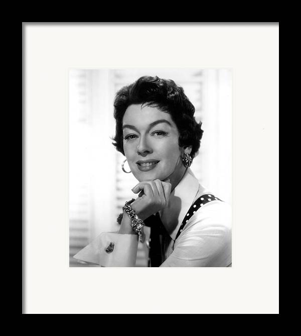 1950s Movies Framed Print featuring the photograph The Girl Rush, Rosalind Russell, 1955 by Everett