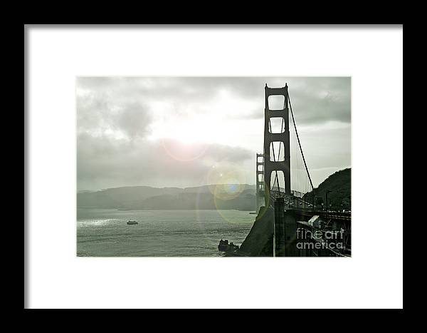 Golden Gate Framed Print featuring the photograph The Golden Gate Bridge by Micah May