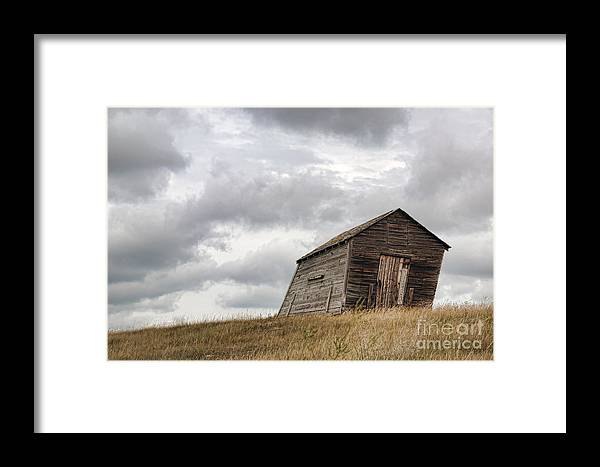 Western Framed Print featuring the photograph The Granary by Brian Ewing