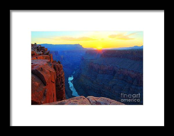 Grand Canyon Framed Print featuring the photograph The Grand Canyon Solitude At Toroweap by Bob Christopher