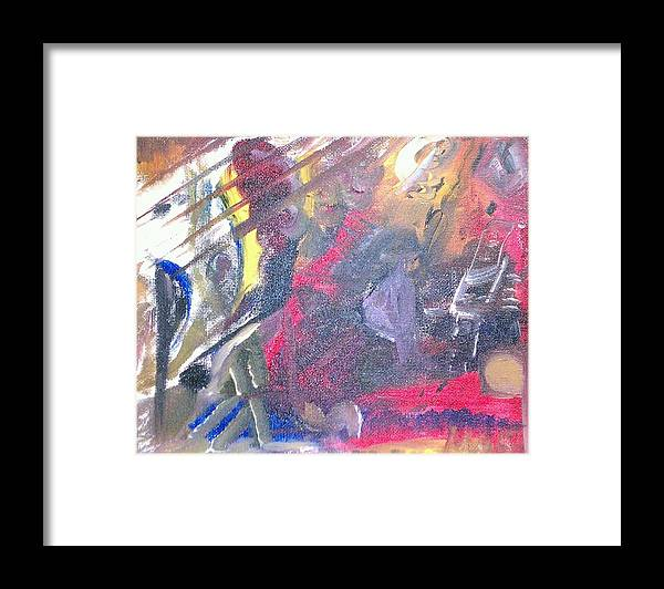 Abstract Framed Print featuring the painting The Grand Musician by Mae Hermansen