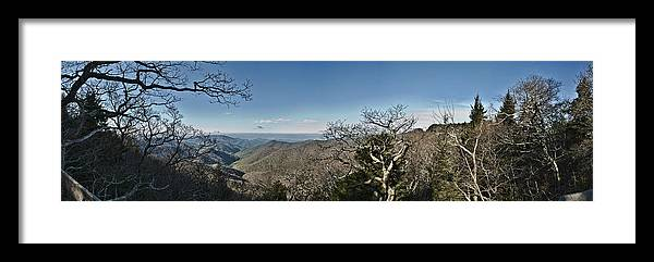 Blue Ridge Parkway Framed Print featuring the photograph The Great Smoky Mountains by Wayne Denmark