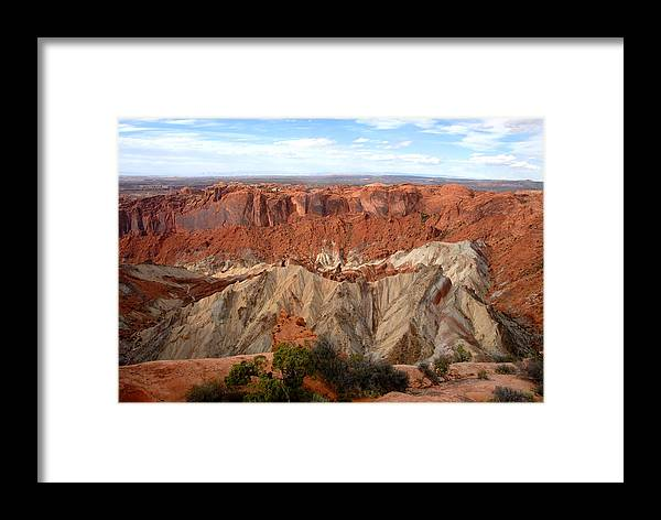 Fine Art Photography Framed Print featuring the photograph The Great Upheaval Dome by David Lee Thompson