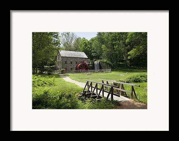 Grist Mill Framed Print featuring the photograph The Grist Mill by Lee Fortier