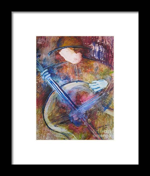 Guitar Framed Print featuring the painting The Guitar Player by Deborah Nell
