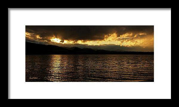 Sunset Framed Print featuring the photograph The Heavens Opened by Stephen Johnson