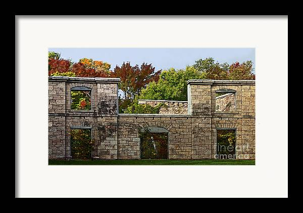 Facade. Architecture Framed Print featuring the photograph The Hermitage by Barbara McMahon