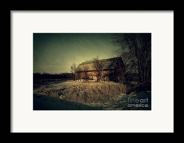 Barn Framed Print featuring the photograph The Hiding Barn by Joel Witmeyer