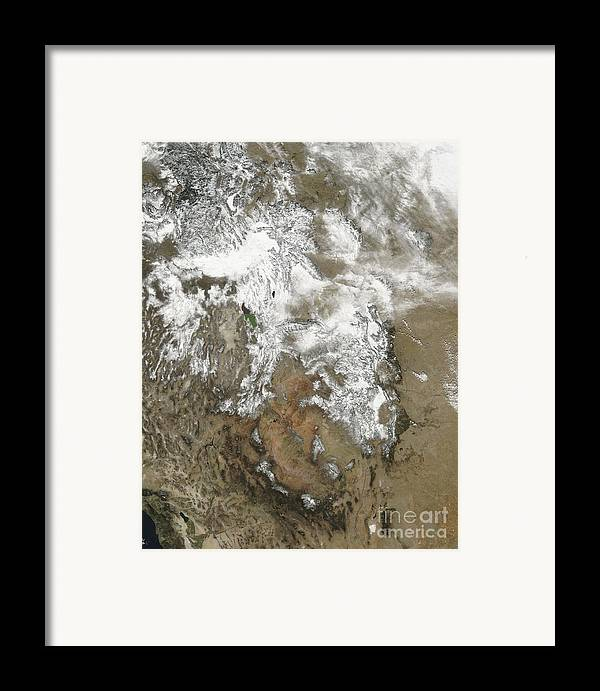 Mountainous Framed Print featuring the photograph The High Peaks Of The Rocky Mountains by Stocktrek Images
