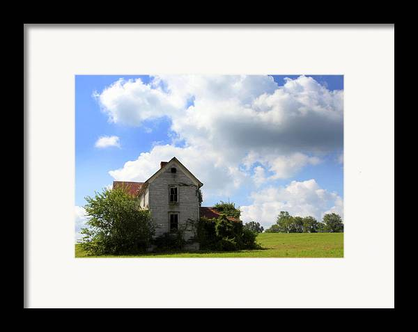 Haunted Houses Framed Print featuring the photograph The House On The Hill by Karen Wiles