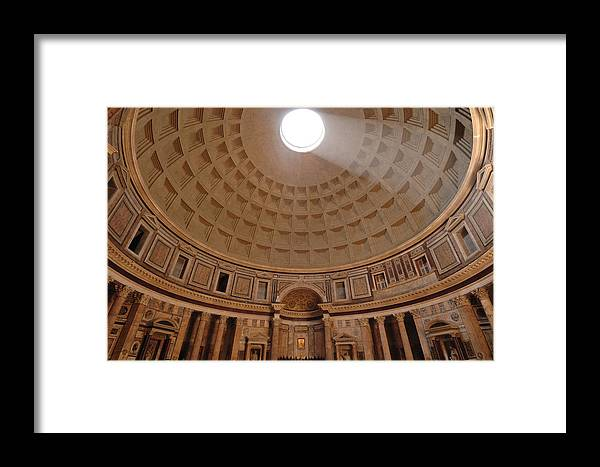 No People Framed Print featuring the photograph The Inside Of The Pantheon by Kenneth Garrett