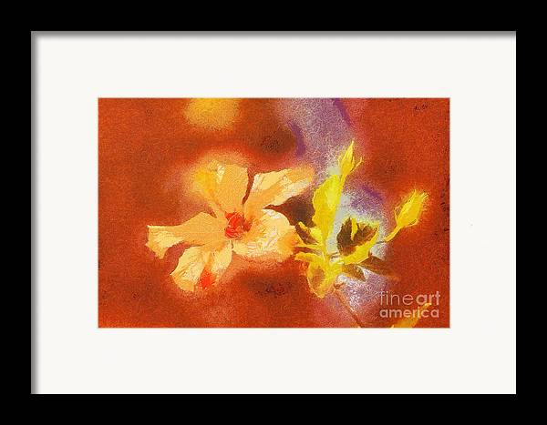 Odon Framed Print featuring the painting The Iris Flower by Odon Czintos