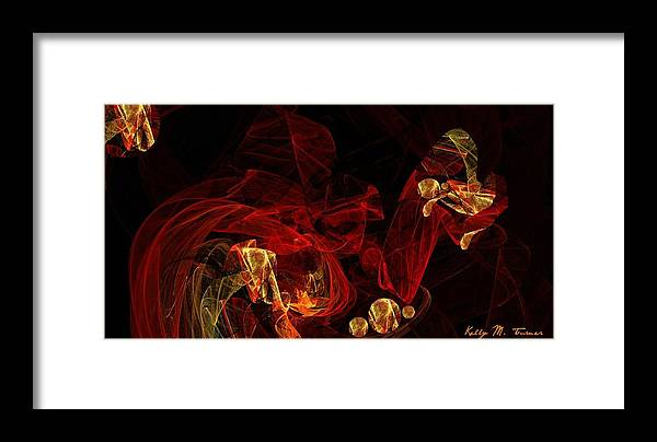 The Journey Framed Print featuring the digital art The Journey Ahead by Kelly Turner