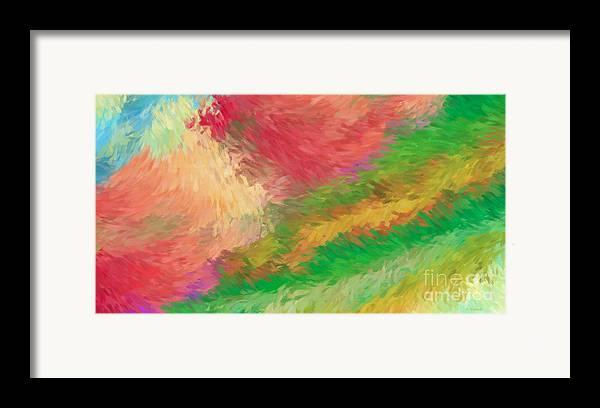 Abstract Framed Print featuring the digital art The Journey by Deborah Benoit