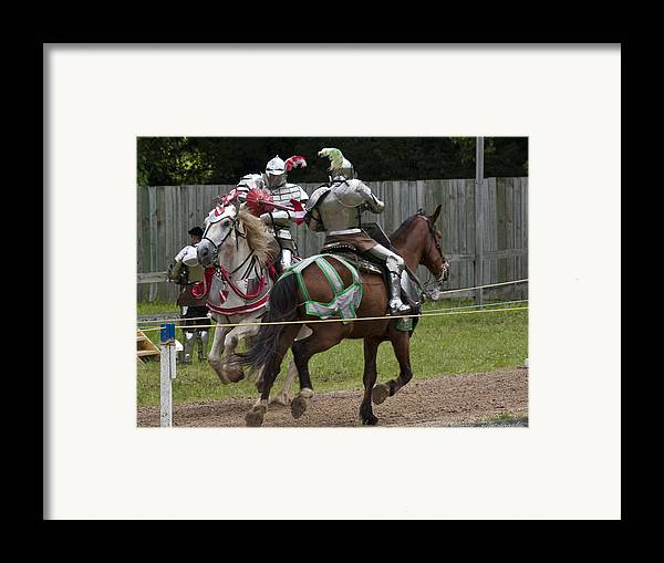 Medeival Framed Print featuring the photograph The Joust I by Charles Warren