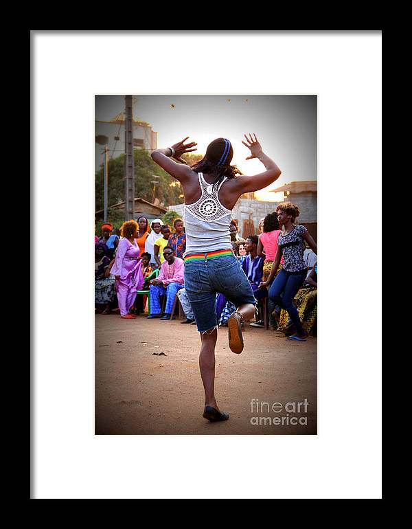 West African Dance Framed Print featuring the photograph The Joy Of Dance by Renee Rushing