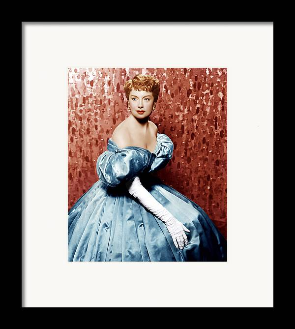 1950s Portraits Framed Print featuring the photograph The King And I, Deborah Kerr, 1956 by Everett
