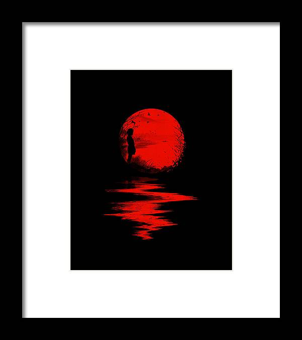 Art Framed Print featuring the digital art The Land of the Rising Sun by Nicebleed
