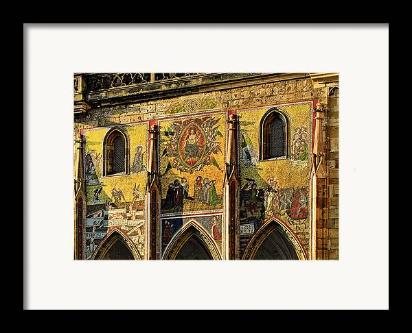 Judgment Framed Print featuring the photograph The Last Judgment - St Vitus Cathedral Prague by Christine Till