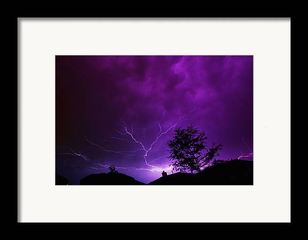 Lightning Framed Print featuring the photograph The Lightning Spread by Lisa Spencer